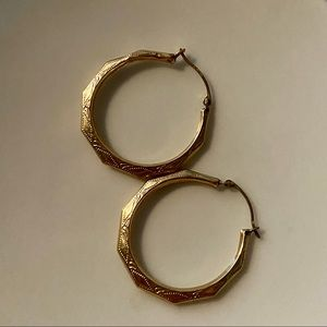 Gold Embellished Hoop Earrings